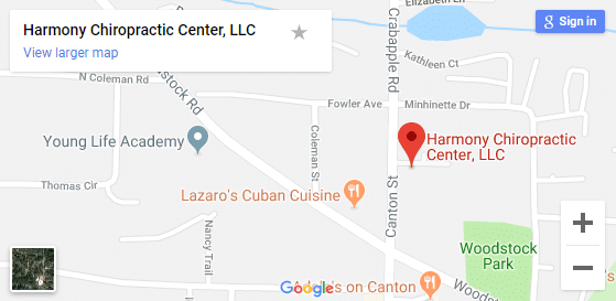 Map of Roswell GA Chiropractic